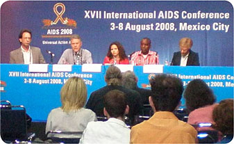 Mexico City AIDS press conference