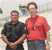David with prison guard, Mexico